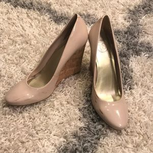 Jessica Simpson Nude Wedges 10